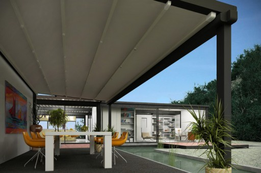 Pergola bioclimatique r tractable pergola toile r tractable for Pergola bioclimatique retractable